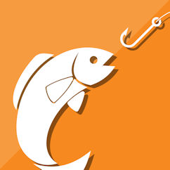 Fish being hooked Icon